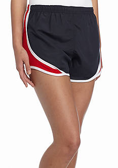 ROYCE Navy Short With Red and White Stripe Inset