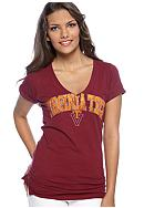 Pressbox Virginia Tech Rock Of Love Tee