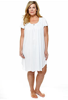 Miss Elaine Plus Size Silkyknit Short Gown