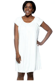 Miss Elaine Plus Size Sofiknit Short Gown