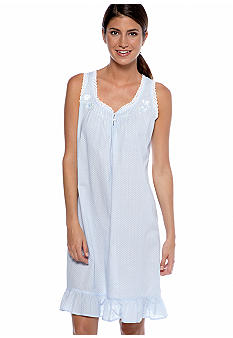Miss Elaine Sleeveless Polka Dot Chemise