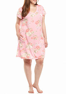 Miss Elaine Plus Size Cottonessa Short Gown