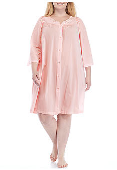 Miss Elaine Plus Size Nylon Tricot Short Robe