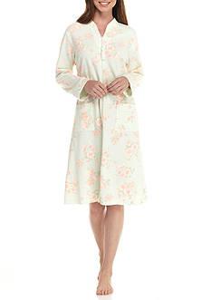 Miss Elaine French Terry Short Zip Robe