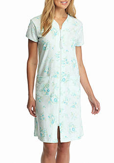 Miss Elaine Silky Knit® French Terry Zip Robe