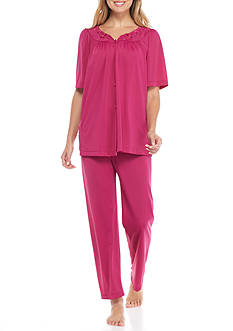 Miss Elaine Tricot Pajama Set