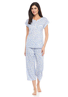 Miss Elaine Luxe Cotton Capri Pajama Set