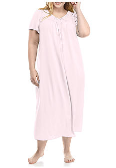 Miss Elaine Plus Size Long Nylon Gown