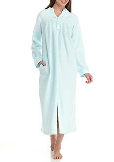 Miss Elaine Cuddle Fleece Long Zip Robe
