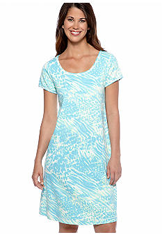 Miss Elaine Watercolor Interlock Knit Short Dress