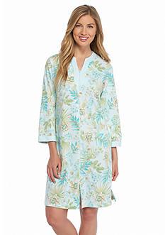 Miss Elaine Interlock Short Zip Robe