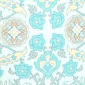 Bathrobes For Women: Turquoise Medallion Miss Elaine Interlock Short Zip Robe