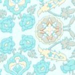 Bathrobes For Women: Turquoise Medallion Miss Elaine Medallion Interlock Long Zip Robe