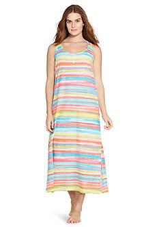 Lauren Ralph Lauren Plus Size Knit Maxi Lounger