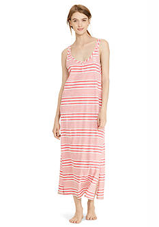 Lauren Ralph Lauren Stripe Tank Maxi Gown
