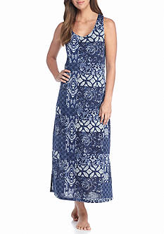 Lauren Maxi Patchwork Printed Gown