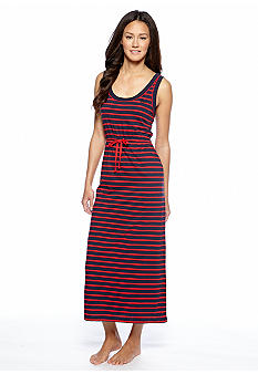 Lauren Ralph Lauren Striped Maxi Gown