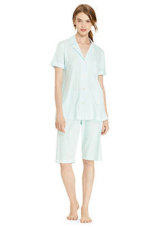 Lauren Ralph Lauren Short Sleeve Knit Bermuda Pajama Set