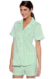 Lauren Ralph Lauren Woven Striped Boxer Pajama Set