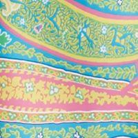 Women's Chemise Sleepwear: Blue Paisley Lauren Ralph Lauren Lace Trim Satin Chemise