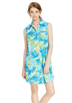Lauren Ralph Lauren Sleeveless Lawn Button Sleepshirt