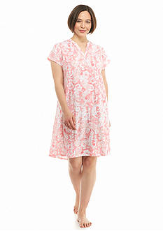 Lauren Ralph Lauren Plus Size Short Sleeve Knit Sleepshirt