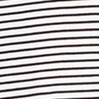 Women: Designer Sale: White Black Stripe Lauren Ralph Lauren White Stripe Long Sleeve Sleepshirt