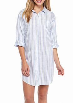 Lauren Ralph Lauren Striped Lawn Sleepshirt
