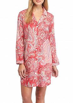 Lauren Long Sleeve Paisley Sateen Sleepshirt