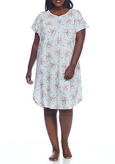 Lauren Plus Size Slub Jersey Sleepshirt