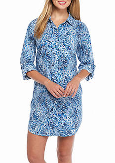 Lauren Ralph Lauren Three Quarter Sleeve Lawn Sleepshirt