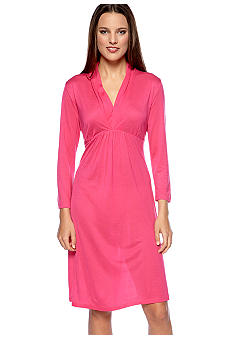 Lauren Ralph Lauren Sag Harbor Knit Three-Quarter-Sleeve Gown
