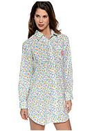 Lauren Ralph Lauren Hampton Chic Coopers Beach Woven Sleep Shirt