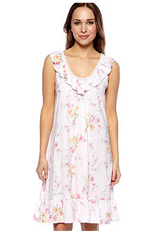 Lauren Ralph Lauren Plus Size Ruffled Short Gown