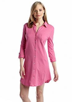 Lauren Ralph Lauren Roll Cuff Sleep Shirt