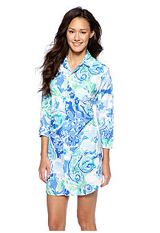 Lauren Ralph Lauren Watercolor Floral Print Sleep Shirt