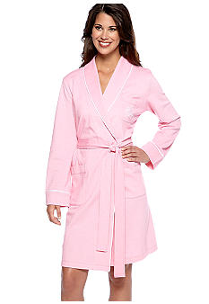 Lauren Ralph Lauren Satin Piped Knit Robe