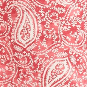 Nightgowns for Women: Red Paisley Lauren Icon Notch Collar Knit Sleepshirt