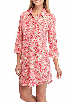 Lauren Icon Notch Collar Knit Sleepshirt