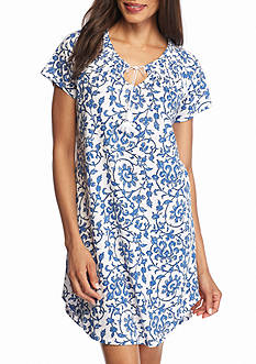 Lauren Ralph Lauren Short Sleeve Scroll Gown