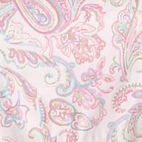 Women: Designer Sale: Pink Paisley Lauren Ralph Lauren 2-Piece Long Sleeve Sateen Notch Collar Pajama Set