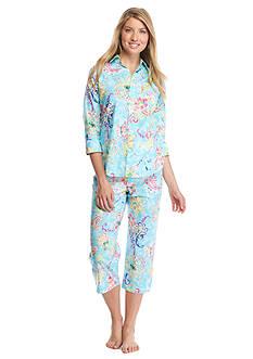 Lauren Ralph Lauren Cotton Lawn Capri Pajama Set
