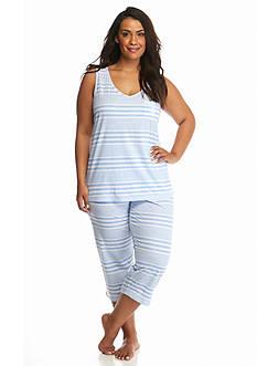 Lauren Ralph Lauren Plus Size Knit Tank Capris Pajama Set