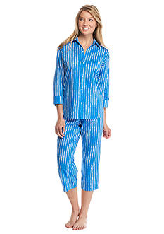 Lauren Ralph Lauren His Shirt Capris Pajama Set