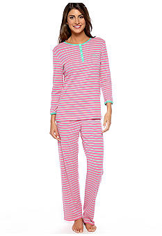 Lauren Ralph Lauren Cobblefield Knits Three-Quarter Sleeve Pajama Set