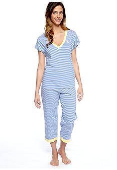 Lauren Ralph Lauren Striped Knit Pajama Set