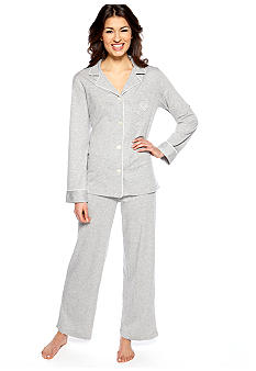 Lauren Ralph Lauren Hammond Classic Knit Notch Collar Pajama Set