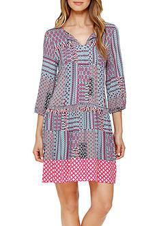 Ellen Tracy Printed Tunic Dress