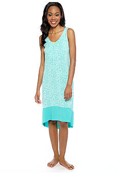 Ellen Tracy Sleeveless Printed Chemise
