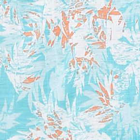Ellen Tracy Women Sale: Aqua Floral Ellen Tracy Sleeveless Crinkle Ballet